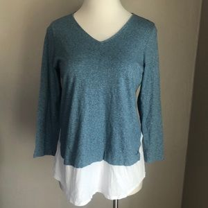 J. Jill Knit Layered Blouse